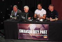 Pictured L-R: Alan Curtis, unidentified, Lee Trundle and Alan Tate Thursday 08 April 2016<br />Re: Zimkids dinner at the Liberty Stadium, Swansea, UK
