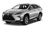 2018 Lexus RX 350L-4x2 5 Door SUV Angular Front stock photos of front three quarter view