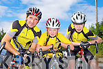 Currow cyclists Tom Barrett, Sean Barrett and Hugh McSweeney who cycled at the Cycling County Championships in Kilcummin on Saturday