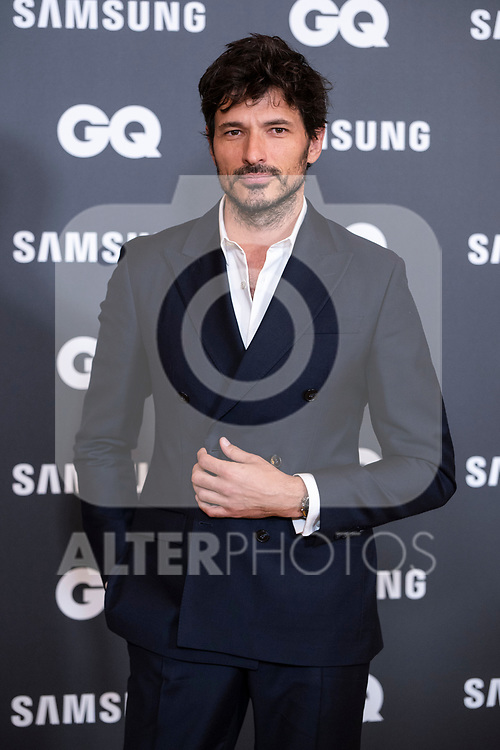 Actor and model Andres Velencoso at photocall for GQ Men of Year Award <br /> Madrid, Spain. <br /> November 21, 2019. <br /> (ALTERPHOTOS/David Jar)