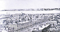 New York:  Panorama, 1842-45.  South side of Fulton.
