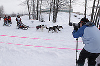 Silvia Furtwängler Saturday, March 3, 2012  Ceremonial Start of Iditarod 2012 in Anchorage, Alaska.
