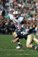 South Bend, IN - OCTOBER 4:  Cornerback Michael Thomas #3 of the Stanford Cardinal during Stanford's 28-21 loss against the Notre Dame Fighting Irish on October 4, 2008 at Notre Dame Stadium in South Bend, Indiana.