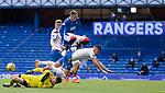 22.08.2020 Rangers v Kilmarnock: Killie keeper Danny Rogers saves from Ryan Kent