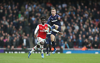 Arsenal's Bukayo Saka and West Ham United's Jarrod Bowen<br /> <br /> Photographer Rob Newell/CameraSport<br /> <br /> The Premier League - Arsenal v West Ham United - Saturday 7th March 2020 - The Emirates Stadium - London<br /> <br /> World Copyright © 2020 CameraSport. All rights reserved. 43 Linden Ave. Countesthorpe. Leicester. England. LE8 5PG - Tel: +44 (0) 116 277 4147 - admin@camerasport.com - www.camerasport.com