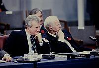 Ottawa CANADA - file photo ca 1987 - Roy Buchanan, Nova-Scotia Premier at the Annual Premiers Conference in Ottawa