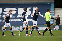 Jake Cooper of Millwall complains to the referee after Middlesbrough take the lead during Millwall vs Middlesbrough, Sky Bet EFL Championship Football at The Den on 8th July 2020