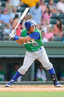 Third baseman Michael Antonio (16) of the Lexington Legends in a game against the Greenville Drive on Monday, July 22, 2013, at Fluor Field at the West End in Greenville, South Carolina. Antonio was a third-round pick in the 2010 First-Year Player Draft. Lexington won, 7-3. (Tom Priddy/Four Seam Images)
