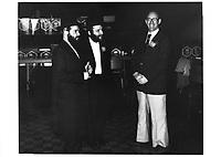Le Maire Jean Drapeau un candidat rencontre la communaute hassidique, le 5 novembre 1978<br /> durant la campagne pour sa ré-élection, <br /> <br /> PHOTO : JJ Raudsepp  - Agence Quebec presse