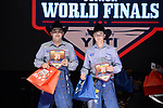 Ethan Priefert, Landon Priefert, during the Team Roping Back Number Presentation at the Junior World Finals. Photo by Andy Watson. Written permission must be obtained to use this photo in any manner.