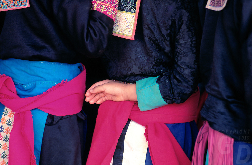 Northern Thai hill tribes in the colorful dress,Thailand