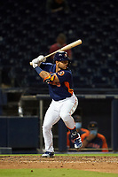 Houston Astros Alex De Goti (86) bats during a Major League Spring Training game against the Washington Nationals on March 19, 2021 at The Ballpark of the Palm Beaches in Palm Beach, Florida.  (Mike Janes/Four Seam Images)