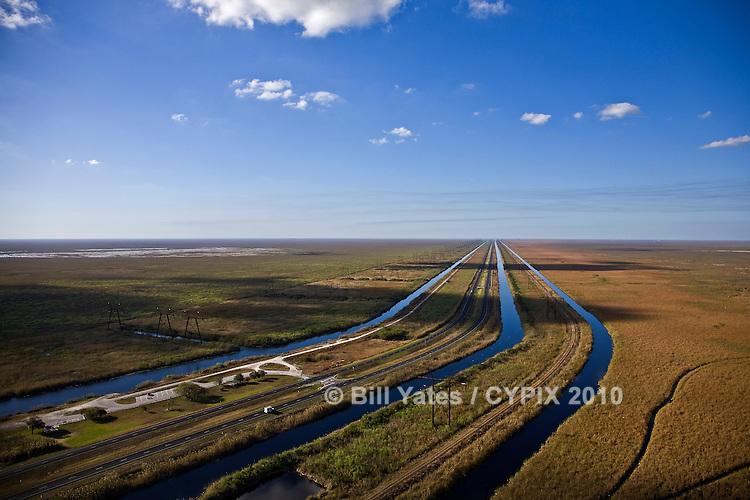 Loxahatchee National Wildlife Refuge - Water Conservation Area 1 Evergaldes Florida helicopter aerial