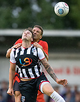 Adam El-Abd of Wycombe Wanderers & Ryan Bird of Manidenhead United during the 2018/19 Pre Season Friendly match between Maidenhead United and Wycombe Wanderers at York Road, Maidenhead, England on 27 July 2018. Photo by Andy Rowland.