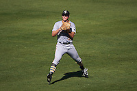 Glendale Desert Dogs outfielder Austin Meadows (30) throws in after catching a fly ball during an Arizona Fall League game against the Mesa Solar Sox on October 14, 2015 at Sloan Park in Mesa, Arizona.  Glendale defeated Mesa 7-6.  (Mike Janes/Four Seam Images)
