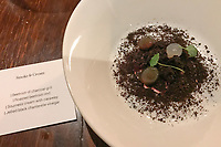 The dish of Smoke & Cream at the Restaurant Horváth, Berlin, Germany. Photo Sydney Low