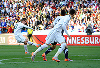 Valter Birsa of Slovenia scores the opening goal