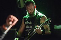 Guitarist Steve Holt shreds as Anchorage's homegrown metal gods 36 Crazyfists perform during a pre-halloween show at Chilkoot Charlie's.