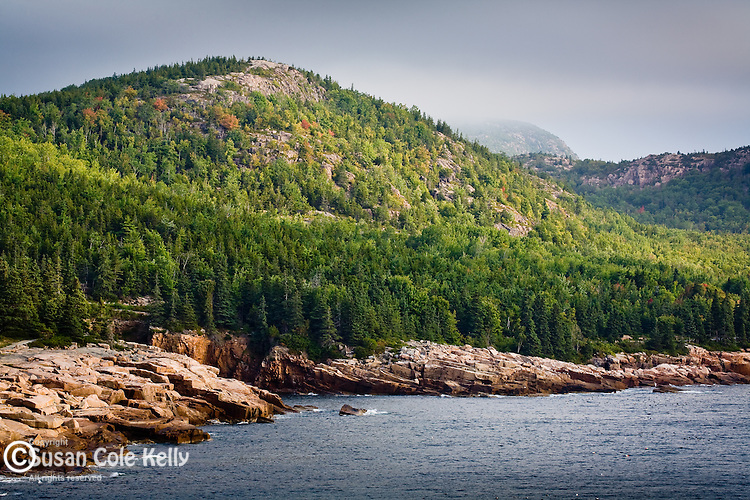 Gorham Mtn, Champlain Mtn, and the Beehive, seen from Otter Cliffs in Acadia National Park, ME