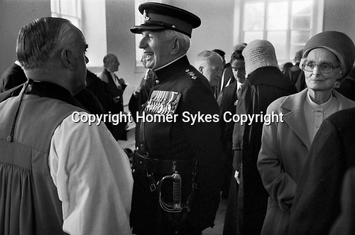 Isle of Man 1970s. The House of Keys Tynwald is the Manx Parliament sits in St Johns church after the Ceremony of Reading the Laws usually observed on 5 July. Reception after the signing in of new laws by the Lieutenant Governor. The Tynwald Court participates at the Tynwald Day Ceremony. 1978
