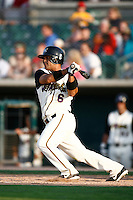 May 19  2007: Tony Granadillo of the Lancaster JetHawks bats against the Lake Elsinore Storm at Clear Channel Stadium in Lancaster,CA.  Photo by Larry Goren/Four Seam Images