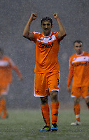 Pictured: Neil Taylor thanking supporters after the final whistle. Saturday, 04 February 2012<br /> Re: Premier League football, West Bromwich Albion v Swansea City FC v at the Hawthorns Stadium, Birmingham, West Midlands.