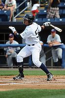 Staten Island Yankees outfielder Exicardo Cayones (50) during game against the Hudson Valley Renegades at Richmond County Bank Ballpark at St.George on June 24, 2012 in Staten Island, NY.  Staten Island defeated Hudson Valley 9-1.  Tomasso DeRosa/Four Seam Images