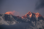 Everest Lhotse Sunset