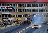 Jul, 22, 2011; Morrison, CO, USA: NHRA funny car driver Melanie Troxel during qualifying for the Mile High Nationals at Bandimere Speedway. Mandatory Credit: Mark J. Rebilas-