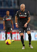Football, Serie A: S.S. Lazio - Udinese Olympic stadium, Rome, December 1, 2019. <br /> Udinese's Bram Nuytinck in action during the Italian Serie A football match between S.S. Lazio and Udinese at Rome's Olympic stadium, Rome on December 1, 2019.<br /> UPDATE IMAGES PRESS/Isabella Bonotto