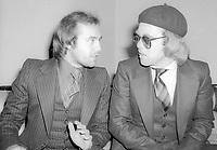 Bernie Taupin Elton John 1977<br /> Photo By Adam Scull/PHOTOlink.net