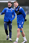 St Johnstone Training...   29.01.21<br />Craig Bryson pictured with Callum Hendry during a training session at McDiarmid Park this morning ahead of tomorrows game at Kilmarnock.<br />Picture by Graeme Hart.<br />Copyright Perthshire Picture Agency<br />Tel: 01738 623350  Mobile: 07990 594431