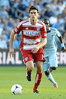 George John (14) FC Dallas defender in action... Sporting Kansas City defeated FC Dallas 2-1 at LIVESTRONG Sporting Park, Kansas City, Kansas.