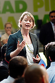 Yvette Cooper MP, launch of Labour's Green Manifesto, Westminster Academy, Labour General Election Campaign, London