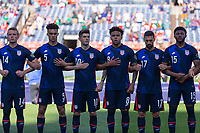 DENVER, CO - JUNE 3: USA starting during a game between Honduras and USMNT at EMPOWER FIELD AT MILE HIGH on June 3, 2021 in Denver, Colorado.