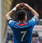Arnold Peralta celebrates his goal