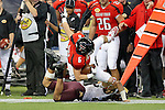Texas Tech Red Raiders wide receiver Austin Zouzalik (6) in action during the Meineke Car Care Bowl game of Texas between the Texas Tech Red Raiders and the Minnesota Golden Gophers at the Reliant Stadium in Houston, Texas. Texas defeats Minnesota 34 to 31.