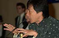 HK actor and director Jackie Chan  speak about his work, in a press conference  before receiving a Special Grand Prize of the Americas, from <br /> Montreal World Film Festival's President & founder ; <br /> Serge Losique, Sept 1st , 2001 in Montreal, CANADA.
