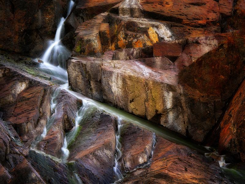 Waterfall on Glen Alpine Creek near Fallen Leaf Lake. California