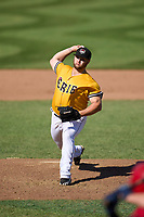 Erie SeaWolves pitcher Cale Coshow (55) during a game against the Harrisburg Senators on September 5, 2021 at UPMC Park in Erie, Pennsylvania.  (Mike Janes/Four Seam Images)
