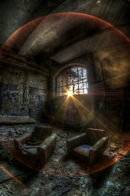 Old lunatic asylum in East Germany, used by both the Nazis and Soviets.