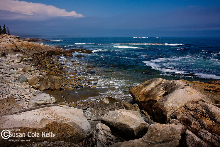 Maine's rocky coast -  Schoodic Peninsula, Acadia National Park, Downeast ME, USA