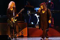 Ann and Nancy Wilson of the legendary rock band Heart perform during the first of two sold-out shows in the Avalon Theatre at Fallsview Casino Resort on Thursday, June 28. Following the second show on June 29, workers at the casino in Niagara Falls, Canada, will begin preparing the stage for Tonight Show host Jay Leno, who performs on July 4 and 5. (CNW Group/Fallsview Casino Resort)