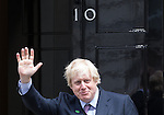 © Joel Goodman - 07973 332324 . 11/05/2015 . London , UK . BORIS JOHNSON , the Mayor of London , arrives at 10 Downing Street this morning (11th May 2015) . Photo credit : Joel Goodman