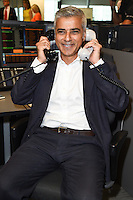 Sadiq Khan<br /> on the trading floor for the BGC Charity Day 2016, Canary Wharf, London.<br /> <br /> <br /> ©Ash Knotek  D3152  12/09/2016