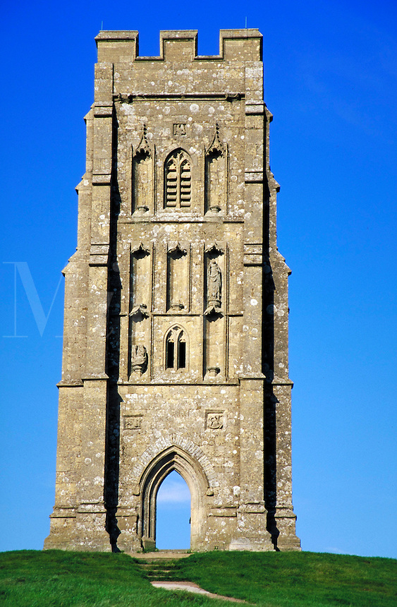Glastonbury Tor, England. ancient civilizations, landmarks, anthropology, religions, Christianity, architecture, mythology, ruins, sculpture, relief, relivios, Holy Isle of the Monks. England.