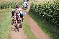 Philipp Walsleben (DEU/Beobank-Corendon) over a muddy gravel section<br /> <br /> Dwars door het Hageland (1.1)<br /> 1 Day Race: Aarschot > Diest (194km)