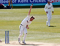 Yorkshire's Steven Patterson bowls during Kent CCC vs Yorkshire CCC, LV Insurance County Championship Group 3 Cricket at The Spitfire Ground on 18th April 2021