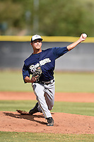 Milwaukee Brewers pitcher Kodi Medeiros (51) during an Instructional League game against the Los Angeles Angels of Anaheim on October 9, 2014 at Tempe Diablo Stadium Complex in Tempe, Arizona.  (Mike Janes/Four Seam Images)