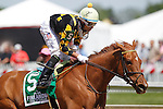 May 17, 2013, Dance to Bristol, Xavier Perez up, wins the Skipat Stakes, 6 furlongs for fillies and mares three years old and upwards, at Pimlico Race Course in Baltimore, MD. (Joan Fairman Kanes/Eclipse Sportswire)